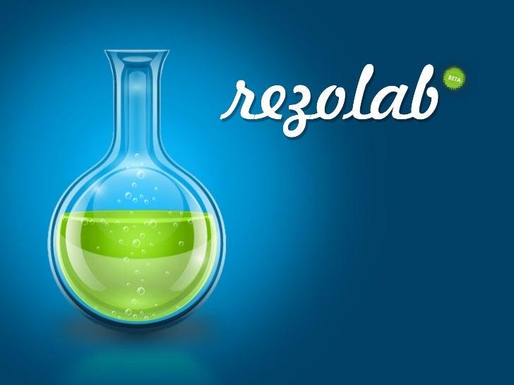 Rezonance : Présentation du projet rezolab