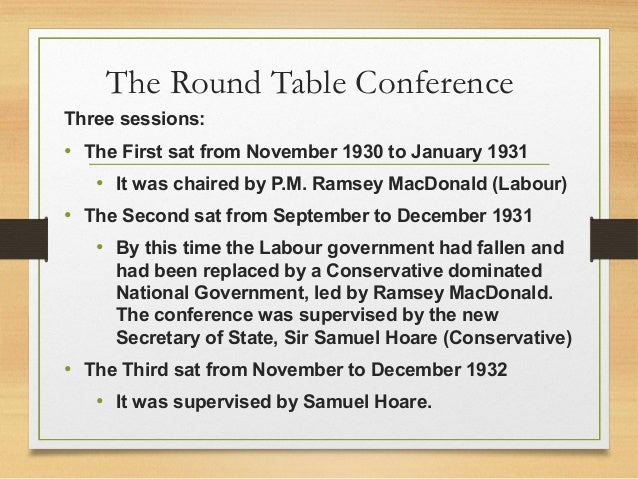 three round table conference
