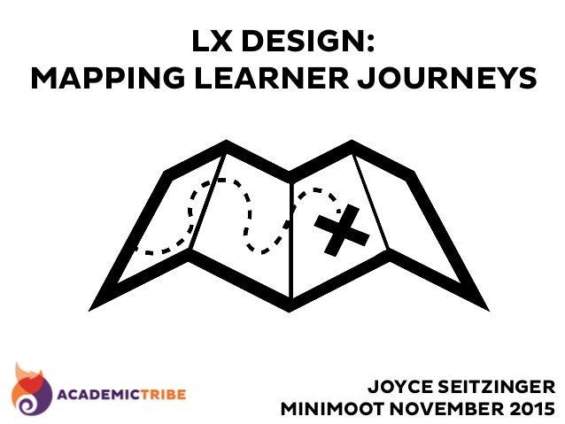 LX DESIGN: MAPPING LEARNER JOURNEYS JOYCE SEITZINGER MINIMOOT NOVEMBER 2015