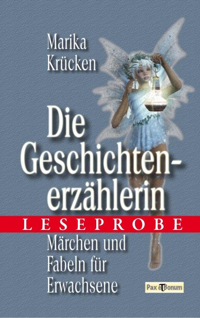 """Leseprobe Buch: """"Die Geschichtenerzählerin"""" bei Pax et Bonum Verlag Berlin"""