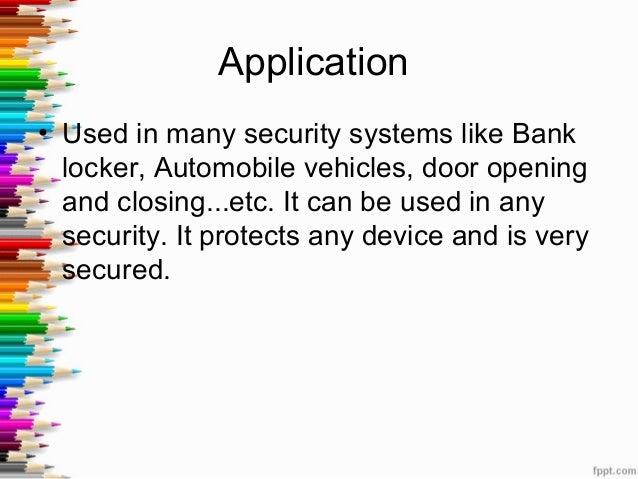 Rf Bases Door Lock System