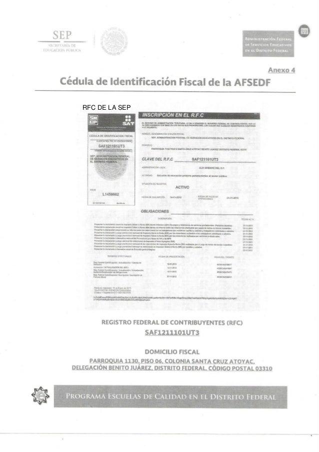 RFC DE LA SEP