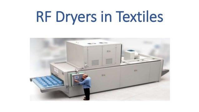 RF Dryers in Textiles