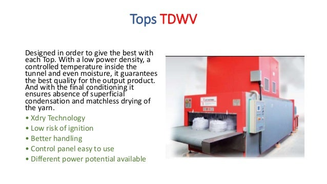 Smooth Tops TDST Created by combination of radio frequency and hot air it allows the best drying for this type of tops. An...
