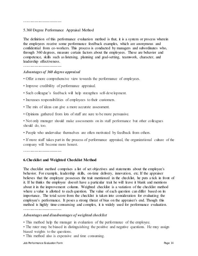 job performance evaluation - Rf Engineer Job Description