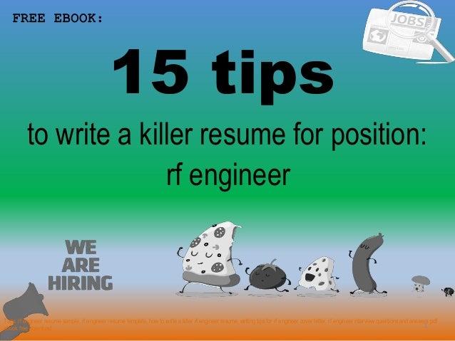 Rf Engineer Resume Sample - www.nyustraus.org - Exaple Resume And ...