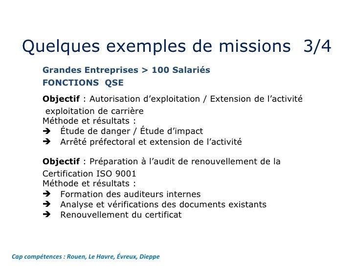exemples de missions cap competences