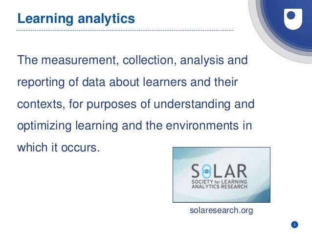 Learning analytics action plan Slide 2