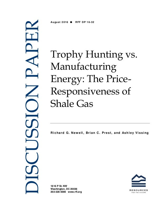 shale gas essay Shale gas often includes stages for exploration, drilling disclaimer: working papers contain preliminary research, analysis, findings, and recommendations.
