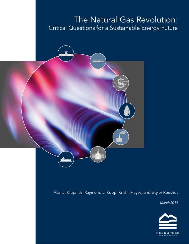 The Natural Gas Revolution: Critical Questions for a Sustainable Energy Future Alan J. Krupnick, Raymond J. Kopp, Kristin ...