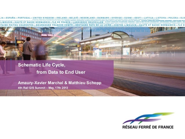 Schematic Life Cycle,from Data to End UserAmaury-Xavier Marchal & Matthieu Schopp4th Rail GIS Summit – May, 17th 2013