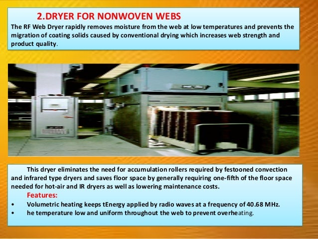 FOOD PROCESSING INDUSTRIES 1.POST-BAKING DRYER The combination of conventional oven heating with RF heating in the final s...