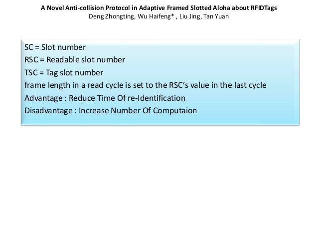 RFID tag anti collision protocols