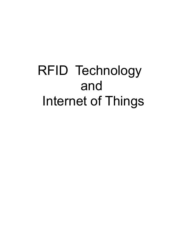 RFID Technology       andInternet of Things