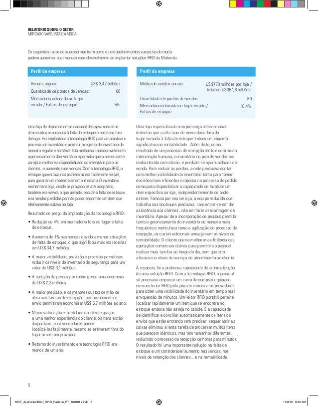 RELATÓRIO SOBRE O SETOR MERCADO VAREJISTA DA MODA 5 Os seguintes casos de sucesso mostram como os estabelecimentos varejis...