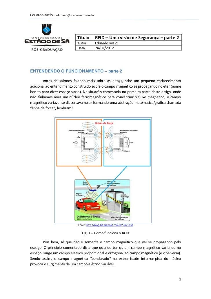 Eduardo Melo - edumelo@ocamaleao.com.br                            Título        RFID – Uma visão de Segurança – parte 2  ...