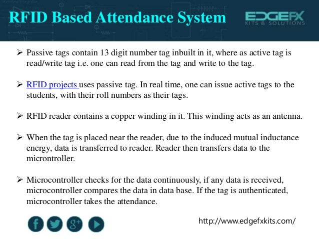 rfid based attendance card system Rfid based attendance system using microcontroller circuit diagram and working process it is used to track the employee or students attendance using rfid tags.
