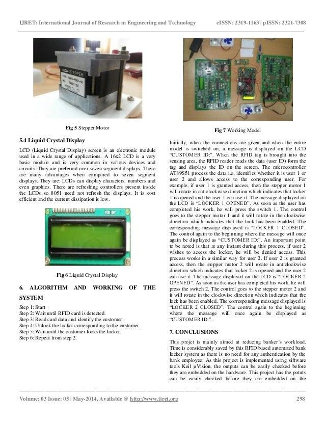 Rfid Based Automated Bank Locker System