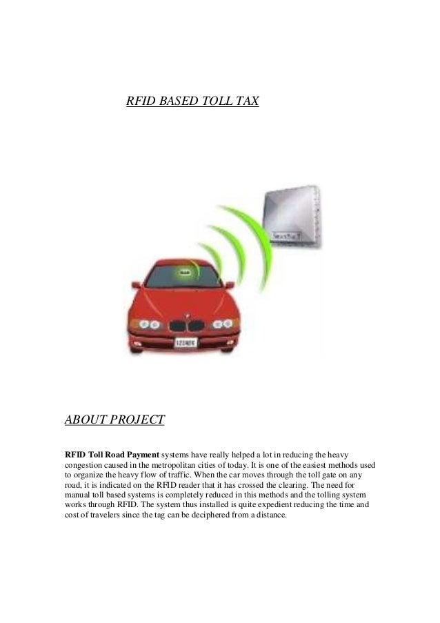 rfid based road toll tax