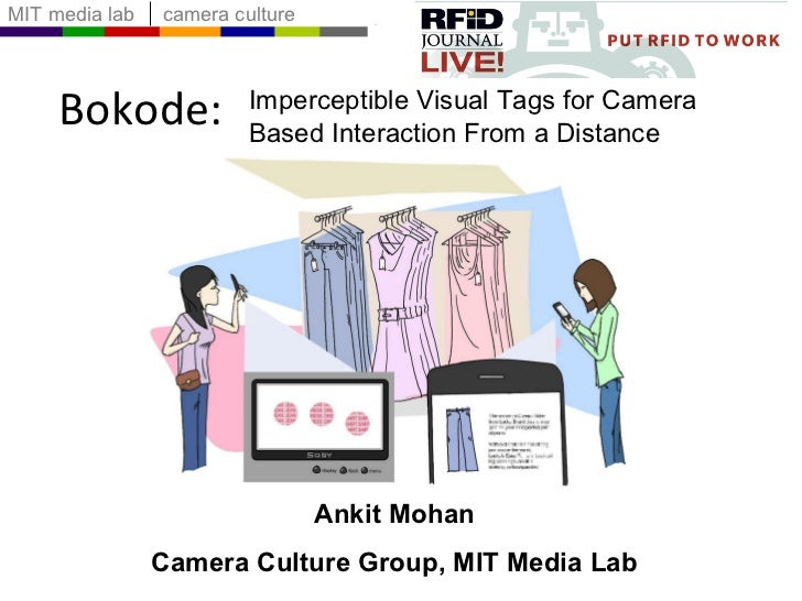 Bokode: Ankit Mohan Camera Culture Group, MIT Media Lab Imperceptible Visual Tags for Camera Based Interaction From a Dist...