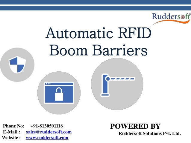 Automatic Boom Barriers with RFID