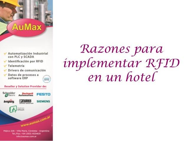 Razones para implementar RFID en un hotel