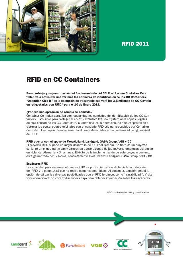 10 ENE 2011 Para proteger y mejorar más aún el funcionamiento del CC Pool System Container Cen- tralen va a actualizar una...