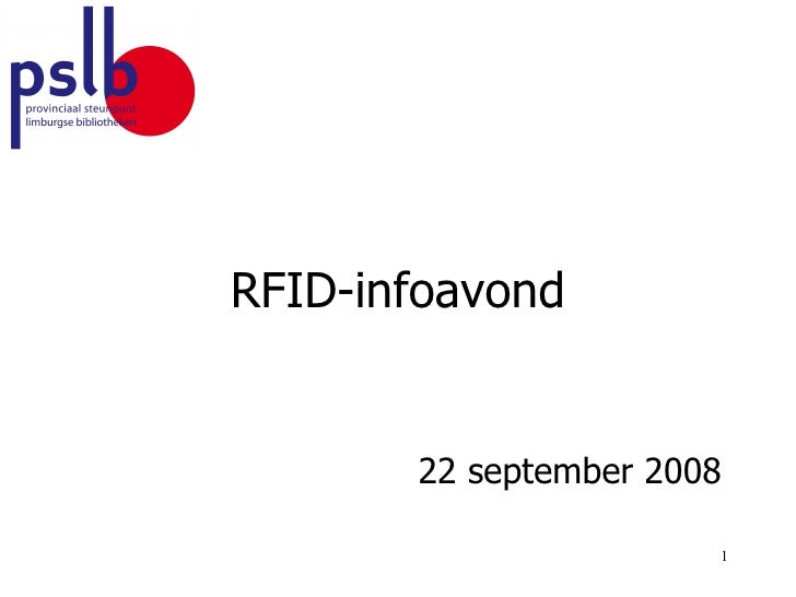 RFID-infoavond 22 september 2008