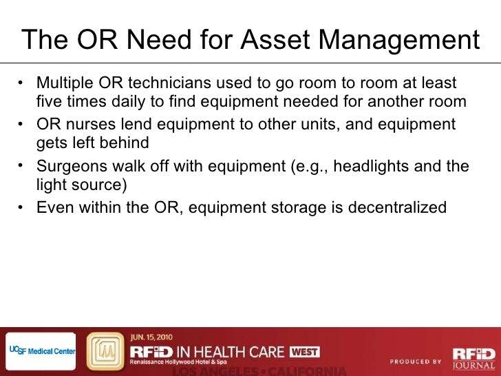 RTLS Asset Management at UCSF Medical Center