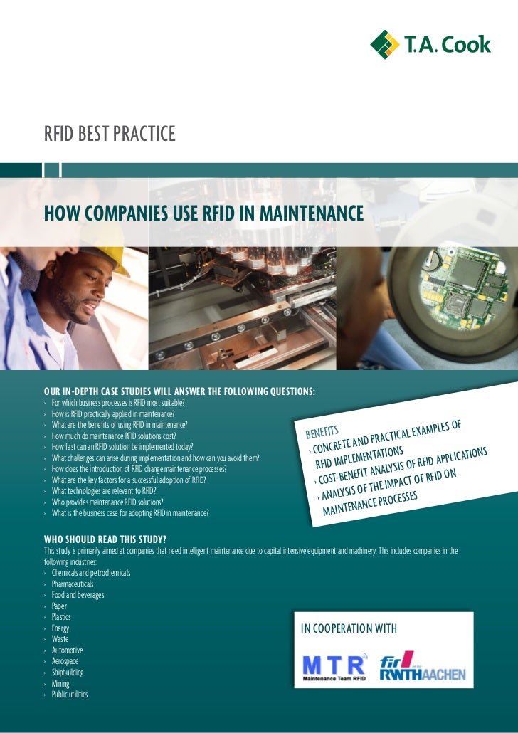 RFID BEst PRaCtICEHow companies use RFiD in maintenanceouR in-DeptH case stuDies will answeR tHe Following questions:›   F...