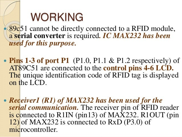 Rfid interfacing & controlling with 8051