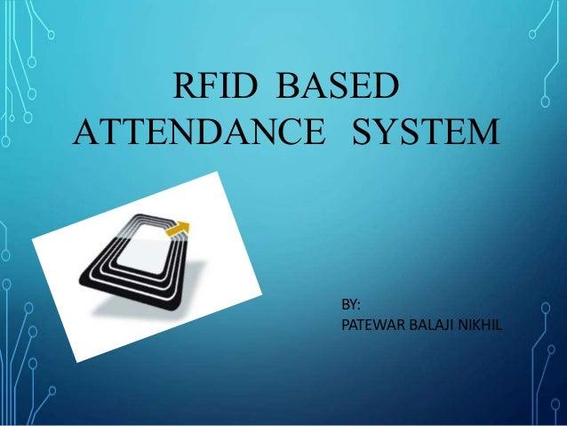 RFID BASED ATTENDANCE SYSTEM PPT