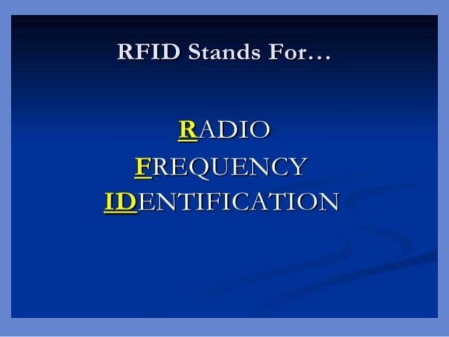 Seminar Presentation of RFID