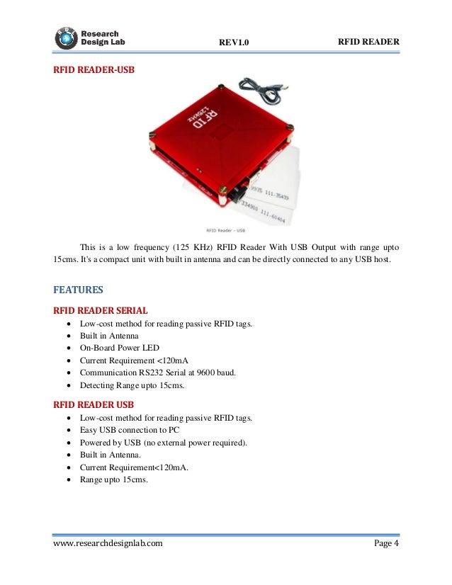 RFID Reader 125KHz USB Serial