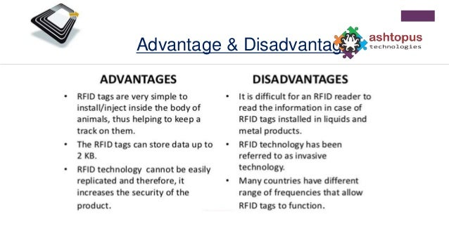 Advantage and Disadvantage of RFID Technology