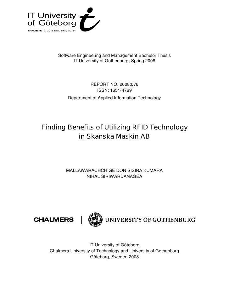 Software Engineering and Management Bachelor Thesis              IT University of Gothenburg, Spring 2008                 ...