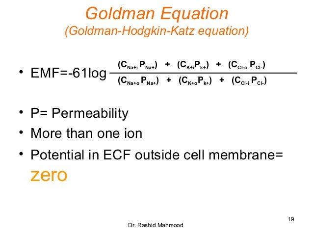 F 18 Vs F 14 >> Membrane Potentials.