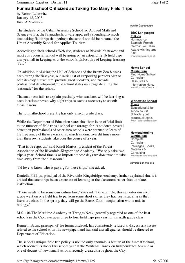 Community Gazettes - District 11                                                                 Page 1 of 2Funmathschool ...