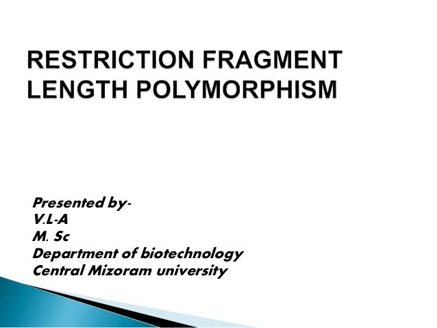Presented by- V.L-A M. Sc Department of biotechnology Central Mizoram university