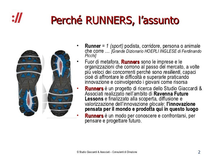 Rapporto Runners. L'innovazione glocale nel ravennate Slide 2