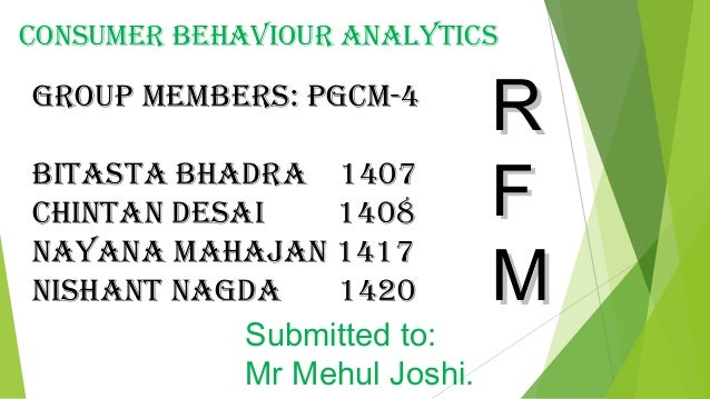 notes on rfm analysis Posts about rfm analysis written by analysights  note that even though we opted to display the residuals for each observation, i chose not to show them here.