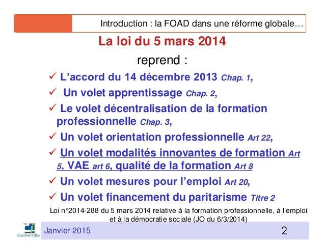 Réforme FPC et FOAD par J-P Cépède Slide 2