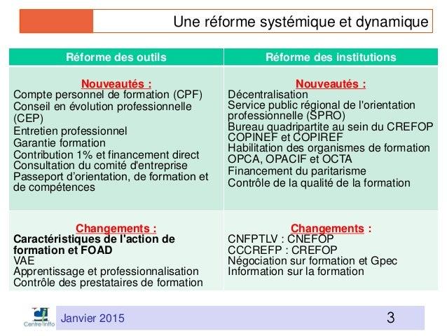 Réforme FPC et FOAD par J-P Cépède Slide 3
