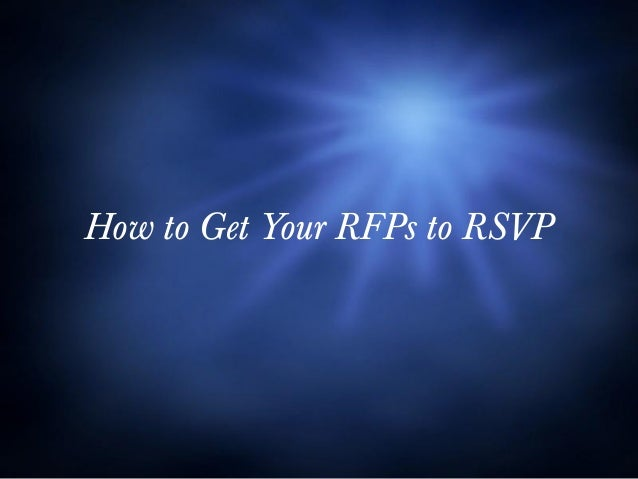 How to Get Your RFPs to RSVP