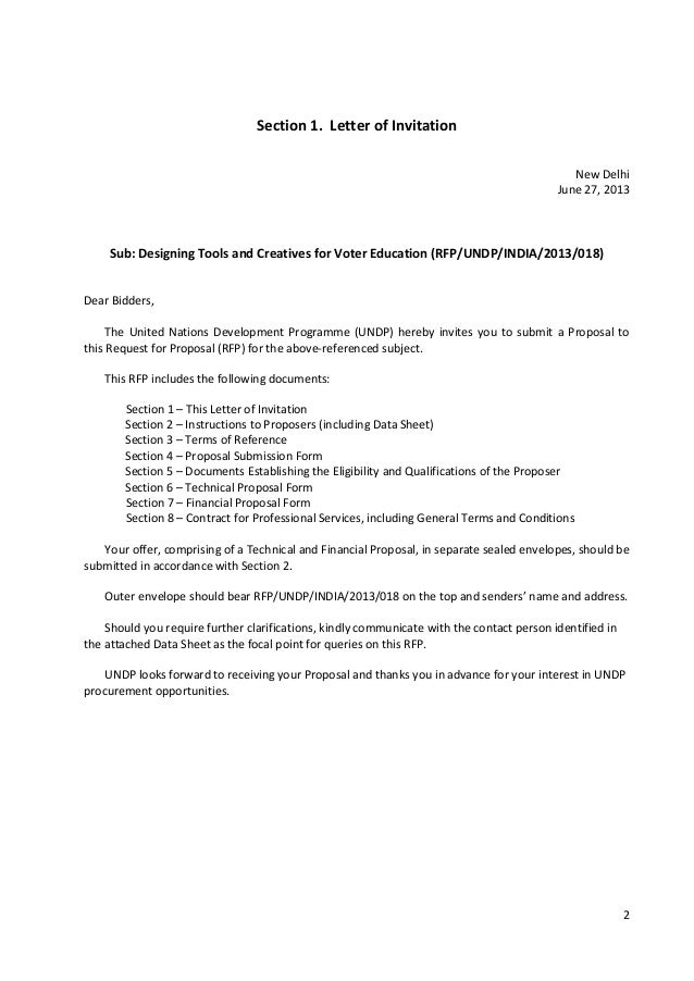 Rfp undp india 2013 018 voter education 2 2 section 1 letter of invitation stopboris Images