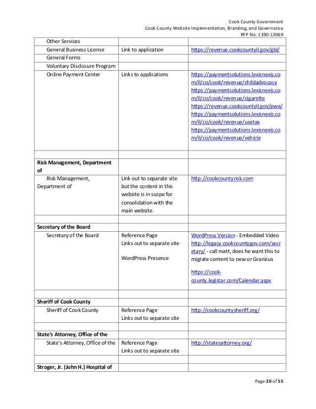 request for proposal rfp no 1390 13069 for cook county website imp. Black Bedroom Furniture Sets. Home Design Ideas