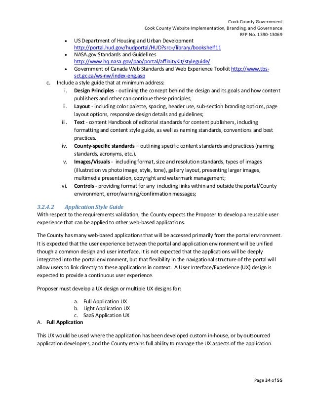 Request for Proposal (RFP) No  1390-13069 for Cook County