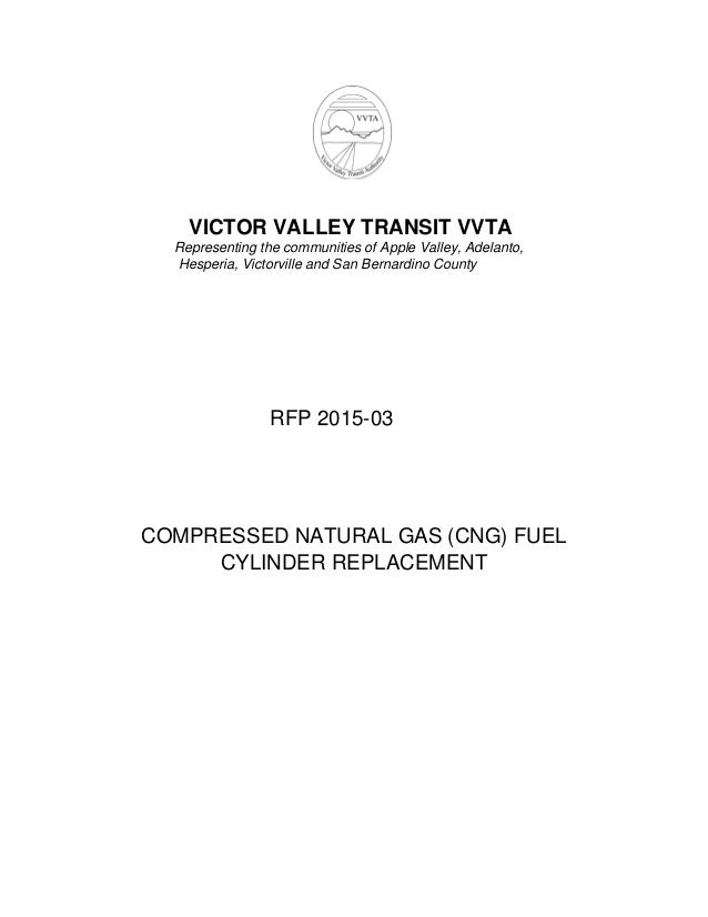VVTA: RFP 2015-03: CNG Fuel Cylinder Replacement
