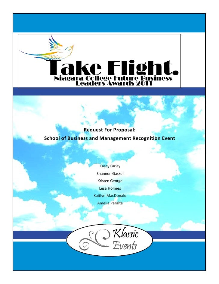 Request For Proposal:School of Business and Management Recognition Event                      Casey Farley                ...
