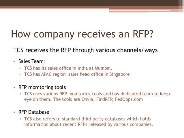 RFP Handling in IT Company